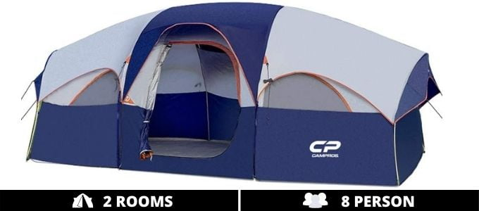 Campros 8 Person 2 Room - Best Tent with Rooms