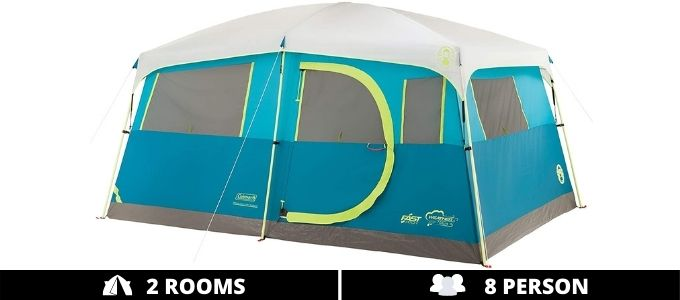 Coleman Tenaya Lake Cabin Tent 2 Rooms 8 Person
