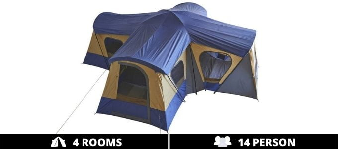 Fortunershop Family Cabin Tent 14 Person 4 Rooms
