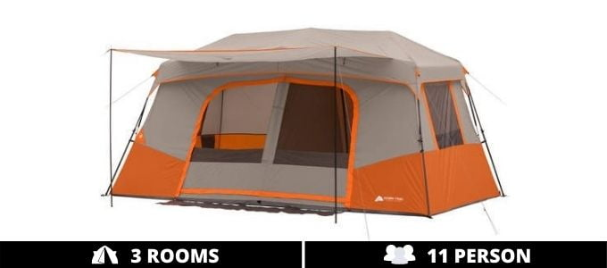 Ozark Trail 11 Person 3 Room Instant Cabin Tent