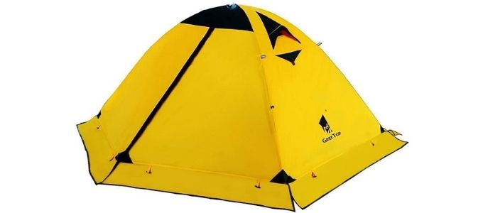 GeerTop 2 Person 4 Season Backpacking Tent - Best Budget Extreme Cold Tent
