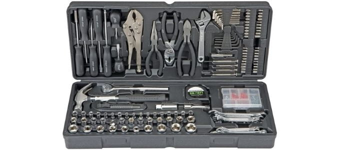 Pittsburgh 130 Piece Mechanics Tool Set with Case